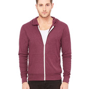 Unisex Triblend Lightweight Hooded Full-Zip Tee