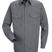 Heathered Poplin Long Sleeve Shirt
