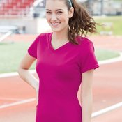 Ladies' V-Neck Wicking T-Shirt