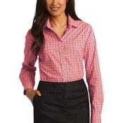Ladies Long Sleeve Gingham Easy Care Shirt