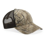 Camo Cap with Mesh Back and American Flag Undervisor