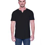 Men's 4.3 oz., CVC  Slit V-Neck T-Shirt