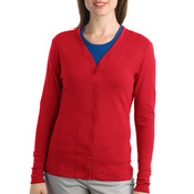 Ladies Modern Stretch Cotton Cardigan
